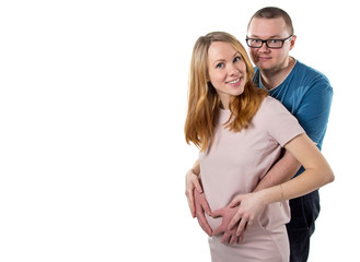 Pregnant wife and her husband