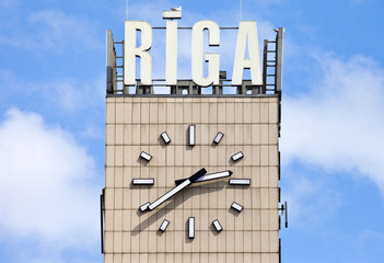 Central Clock in Riga