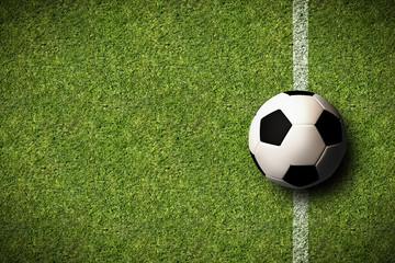 Ball auf Seitenlinie