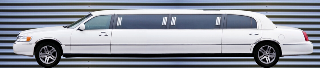 Weisse Limousine
