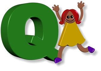 Alphabet Q Girl