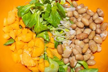 Insalata fagioli e carote