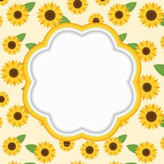 Floral frame. Vector illustration.