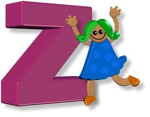 Alphabet Z Girl