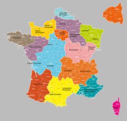 """france 14 régions+départements """"6 calques propres"""""""