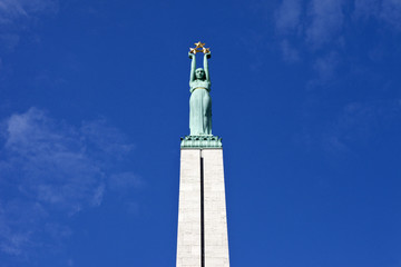 The Freedom Monument in Riga