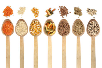 Legumes in spoons