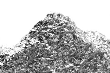aluminum foil background - mountain shape