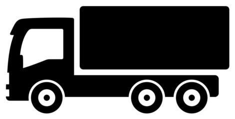black lorry silhouette