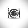Food symbol,grunge vector