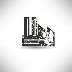 Factory symbol,grunge vector