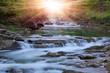 Leinwandbild Motiv Montain river