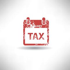 Tax symbol,grunge vector