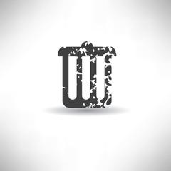 Bin symbol,grunge vector