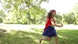 Running superhero girl