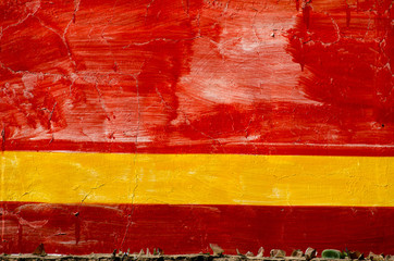 red and yellow painted old wall background