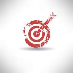 Dart symbol,grunge vector