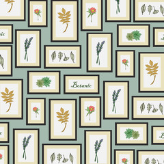 Background of botanic pattern