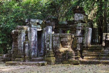Temple ruins. Temple of Angkor wat