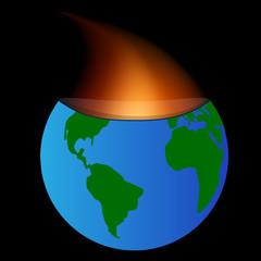 Planet burned