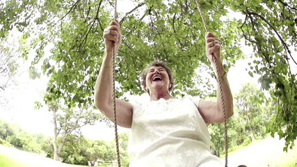 Senior Woman in swing