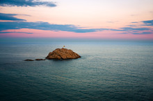 Sunset at the coast of Tossa de Mar