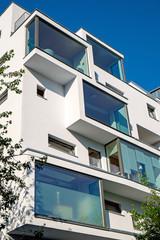 White modern apartment house