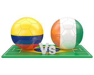 Match du groupe C, coupe du monde 2014