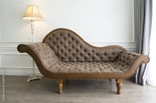 brown sofa with luxurious look