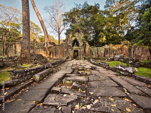 Preah Khan Temple Ruins at Angkor, Cambodia