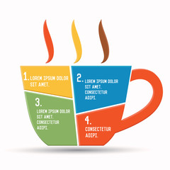 Coffee design,Chart info graphics,vector