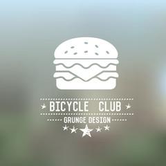 Hamburger badge,grunge vector