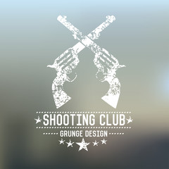Gun retro vector