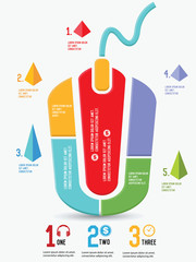 Mouse design,Chart info graphics,vector