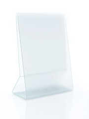 Glass ad Plate on White background