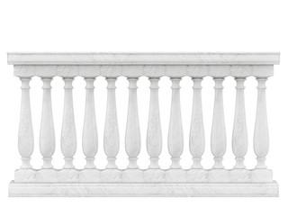Balustrade Pillars Isolated on White background