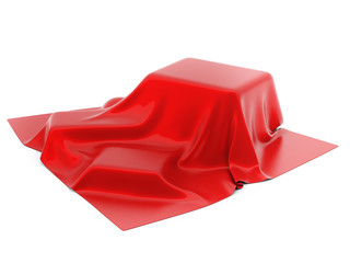 Mysterious box Covered with Red Drapery
