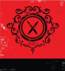 Bullet symbol,grunge vector