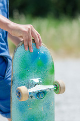Skate azzurro - verde