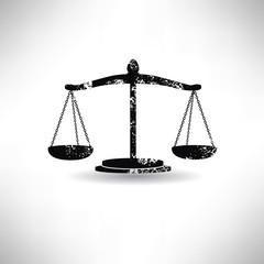 Justice law,grunge vector