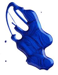 Blots of blue nail polish