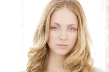 Young blond woman portrait