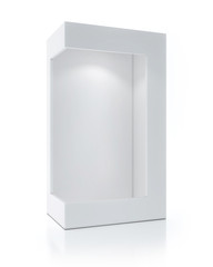 Empty White Package With Light Inside, Exhibit Box