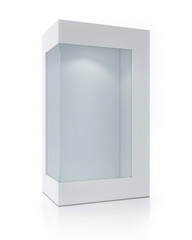Empty Package With Transparent Window, Light Inside