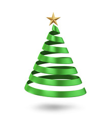 Christmas tree concept, isolated on white background