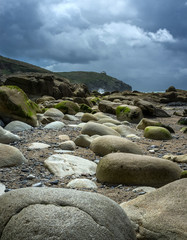 Large rocks on beach