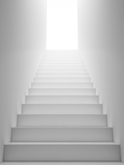White Staircase to the Exit