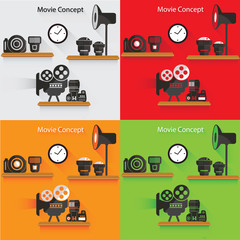 Photography concept,vector