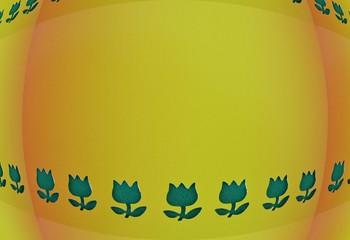Hintergrund gelb abstrakt mit Tulpen