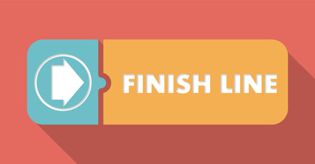 Finish Line on Scarlet in Flat Design.
